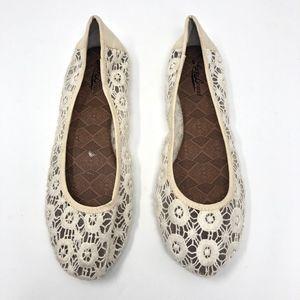 Lucky Brand | Edmonda Crochet Cream Flat Slip On